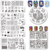NICOLE DIARY Nail Stamping Plate Cartoon Theme Nail Art Image Template