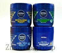 4 Pack Nivea Men Body Cream 400 ml 48H Moisture Combo Set ( 4 Different Scents )