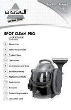 Bissell SpotClean Pro 3624 Owner's Manual FREE SHIPPING