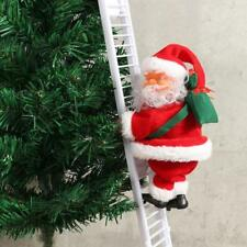 Animated & Musical Jingle Bells Santa Claus Climbing Ladder Christmas Decoration