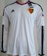 Men FC Basel player issue long sleeves away football shirt size L Adidas BNWT