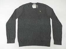 Abercrombie & Fitch Men's V-Neck Sweater Charcoal Medium NWT $48