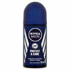 NIVEA Protect & Care 48 hour antiperspirant roll on for MEN 50 ml NEW