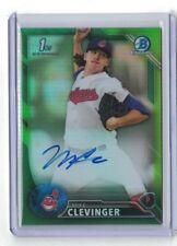 2016 Bowman Chrome Mike Clevinger Auto Green #65/99   Cleveland Indians