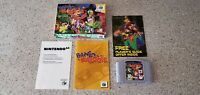 Banjo-Kazooie Nintendo 64 N64 Video Game Complete CIB Manual Box Lot AUTHENTIC !