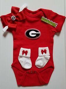 Georgia Bulldogs newborn/baby clothes Georgia baby shower  Georgia baby girl