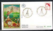 1992- Fdc Soie 1°Jour-Belle & la Bete-Philatelie de la Poste-Obl.Chessy-Yt.2773