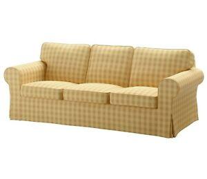 IKEA EKTORP Skaftarp Yellow 3-Seat Sofa COVER 903.398.41