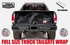 Big Fat Black Bear Tailgate Wrap Vinyl Graphic Decal Sticker Wrap