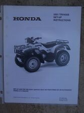 2001 Honda ATV TRX450S Foreman S Set Up Instruction Manual w/ Wiring Diagram L