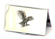Eagle Landing Credit Card Tin Holder Falconary Gift