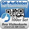 QR Code Aufkleber, Ihre Visitenkarte als QR-Code, 100 Stück, 5x5 cm, wetterfest