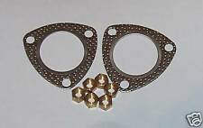 Triumph Stag NEW exhaust down pipe gaskets & brass nuts.