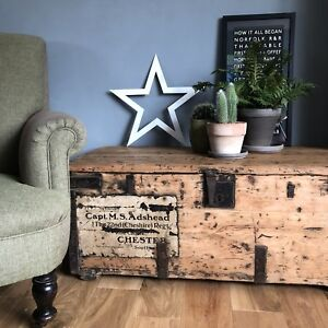Rustic Metal Distressed White Star Industrial Rusty Sign Barn Carnival Amish