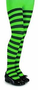 Kids Striped Tights - Various Colors - Large / Black and Green