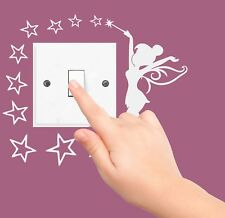 FAIRY STARS disney sticker LIGHT SWITCH PLUG SURROUND bedroom WALL ART princess