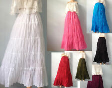 Cotton Peasant, Boho Solid Skirts for Women