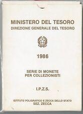 61054 - ITALIA REPUBBLICA - SERIE MONETE della ZECCA - 1986