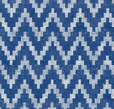 Blue Denim Chevron Zig Zag Geometric Modern Vinyl Contact Paper Peel Stick