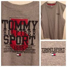 Tommy Hilfiger Sport 2 Sided Mens Small Sleeveless T Shirt Big Block Spell-out