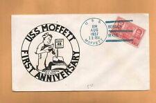 USS MOFFETT FIRST ANNIVERSARY AUG 28, 1937 BOSTON, MASS