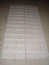 Rideaux voilage blanc avec motifs la paire 2 x ( 173 x 44 ) cm