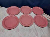 """Vintage Nancy Calhoun """"DARK ROSE"""" Set/6 Salad Plates Retired 2000 Japan"""