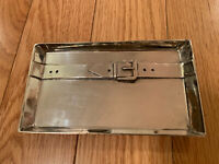 Vintage Trinket Tray Dish Aged Silver Plate Rectangle