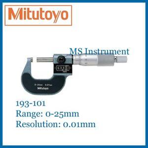 Genuine Mitutoyo 193-101 Digit Micrometer 0-25mm 0.01mm Australia Stock