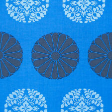 """1 yard 25 inches AMY BUTLER """"CAMEO"""" PRESSED FLOWERS Cobalt"""