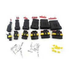 60 sets 1/2/3/4/5/6 Pin HID Car Waterproof Electrical Wire connector Plug 6 in 1