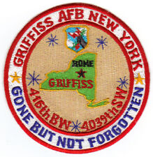 GRIFFFIS AFB, NEW YORK, 416TH BW, 4039TH SW, GONE BUT NOT FORGOTTEN