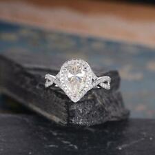 2.35Ct Pear Shaped Infinity Halo Cz Women's Bridal Wedding & Anniversary Ring