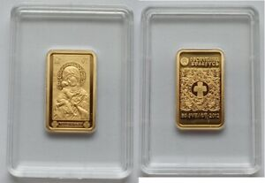 Belarus 50 rubles 2012 Icon of the Most Holy Theotokos of Vladimir Gold