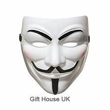 Anonymous For Vendetta Guy Fawkes Scary Party Fancy Dress Halloween Mask Costume