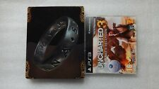 PS3 Uncharted 3 Drake's Deception Steelbook + Uncharted 3 PS3 PROMO Game Rare