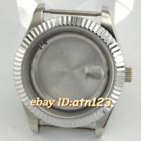 40mm Sapphire Glass Silver Watch Case Fit ETA 2824/2836,Miyota 8205/8215/821A