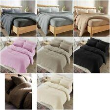 Fleece TEDDY BEAR Duvet Quilt Cover Warm Pillow Cases Fluffy Warm Fleecy Luxury