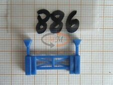 10x ALBEDO Ersatzteil Ladegut Stütze f. 30t Containerchassis blau 1:87 - 0886