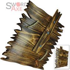 Ork Wooden Shield Goblin Orc Hardwood Handmade The Dweller LARP Weapon Cosplay