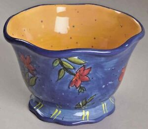 Beautiful Susan Widget Blue Flower Country Collage Collectible Ice Cream Bowl