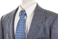 Vintage PENDLETON Half Norfolk Jacket 44L Steel Blue Gray Flecked Herringbone