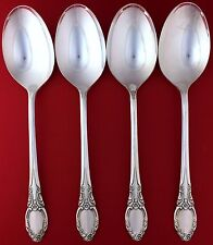 4 PARK LANE CHATELAINE 1957 Wm Rogers Oneida Silverplate Oval SOUP SPOONS 6.75""