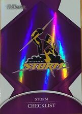 2016 NRL TRADERS MELBOURNE STORM PARALLEL CHECKLIST LOGO CARD PO61 FREE POST