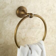 Antique Brass Round Bathroom Towel Ring Rack Holder Wall Mount
