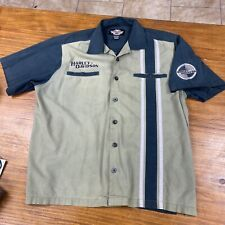 Harley Davidson Button Down Work Shop Shirt Motorcycle Biking Men's Xl Pocket