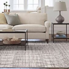 Large Floor Rug Grey Beige Geometric Morrocan Neutral Modern Carpet 200x290cm