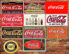 Job Lot 10 x METAL TIN SIGN WALL PLAQUE COCA COLA ADVERTISING COLLECTION #1