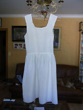 5dd81991c09ea COMBINAISON SOUS ROBE Blanche FILLE T 12a VINTAGE 60 GIRL UNDERDRESS 12 yrs