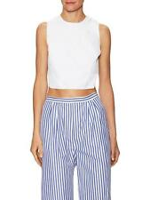 MDS Stripes Mark D. Sikes Blue Striped Wide Leg Cropped Pants Size 6